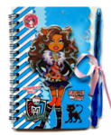 Блокнотик + ручка Monster high 1